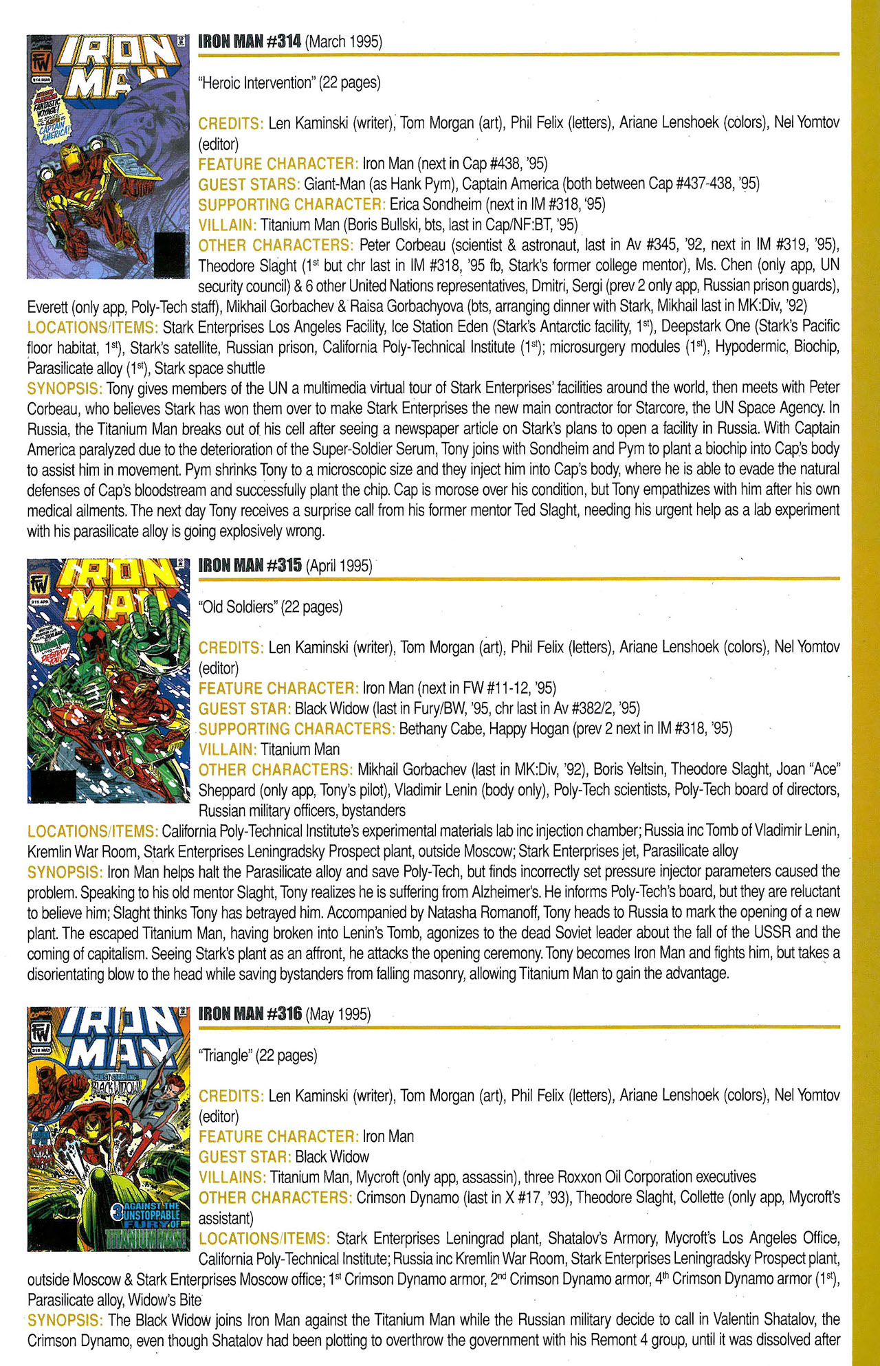 Read online Official Index to the Marvel Universe comic -  Issue #9 - 31