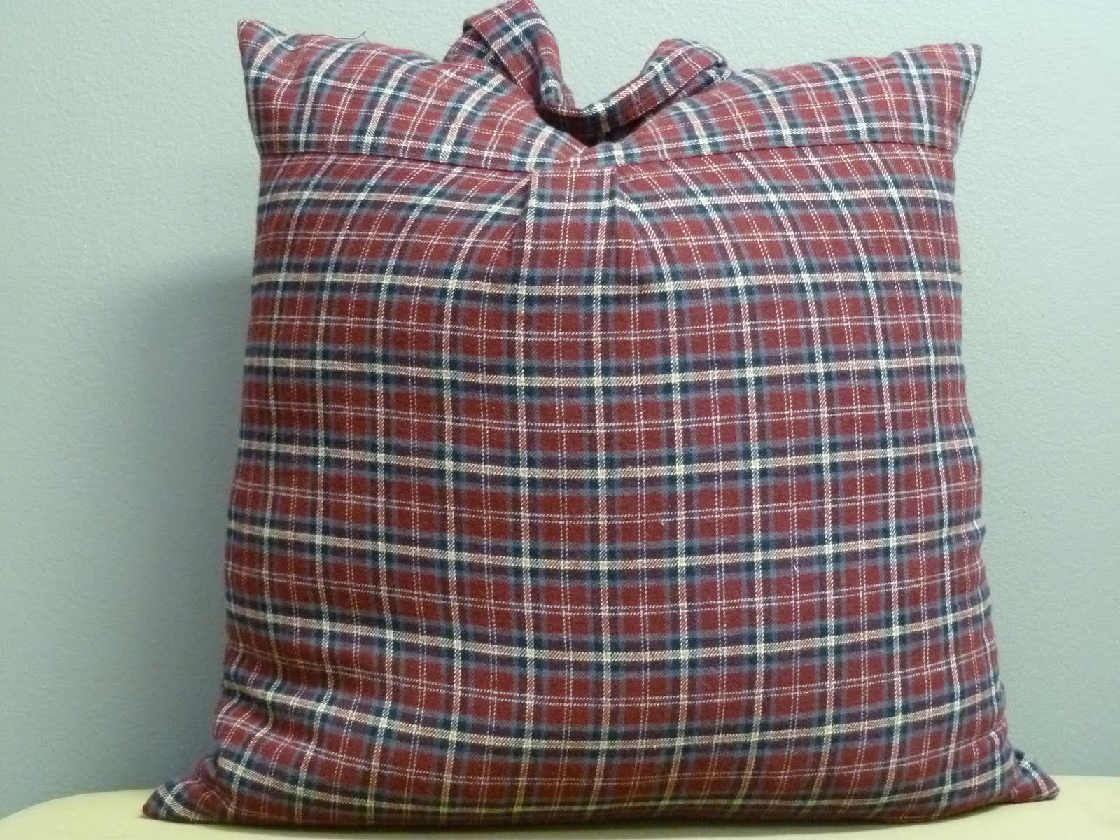 nakedwindow: 16x16 maroon mens flannel plaid shirt pillow ...