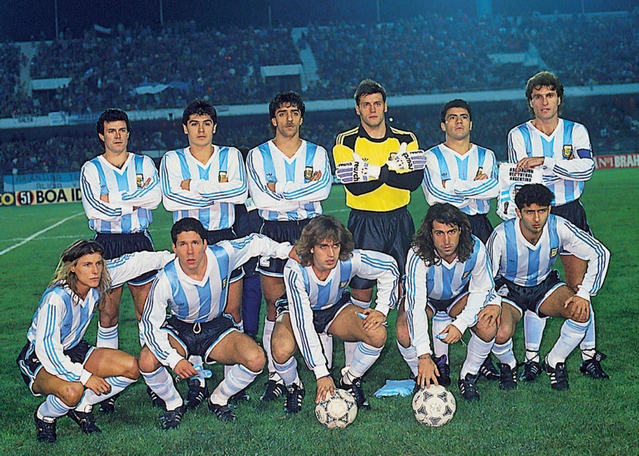 74d1a57c0e Futebol em Fotos  Argentina Campeã Copa América 1991