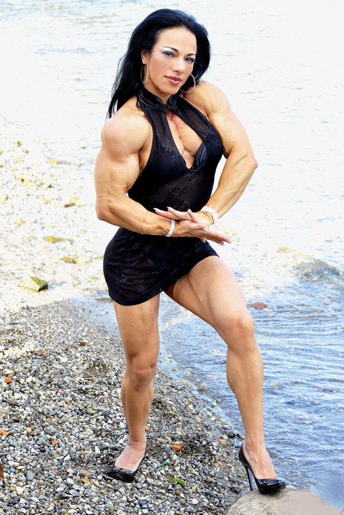 Muscular Womens Dressed: Angie Wehage.