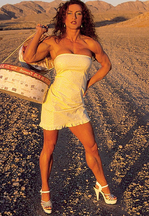 Muscular Womens Dressed: Traci Redding.