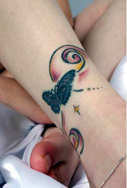 Butterfly Feet Tattoo