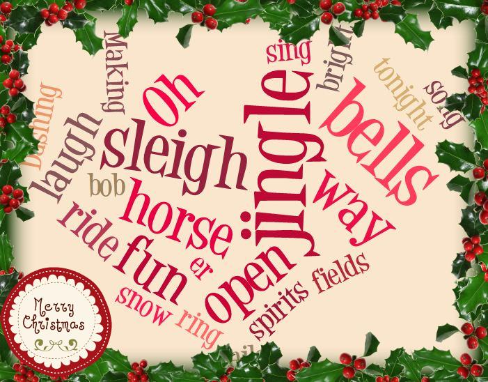 Digital Tools for Teachers Word Cloud Christmas Card Ideas