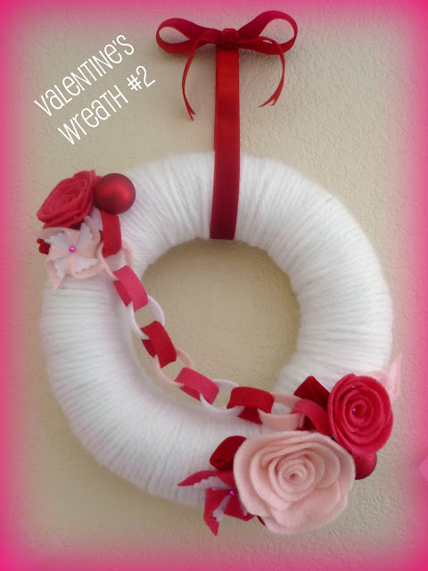 Tutorial for making a yarn Valentine's Day wreath