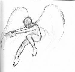 drawing drawings sketches flying cool wings sketch angel easy creative depression pencil simple nature sad inspiration flight danish fly getdrawings