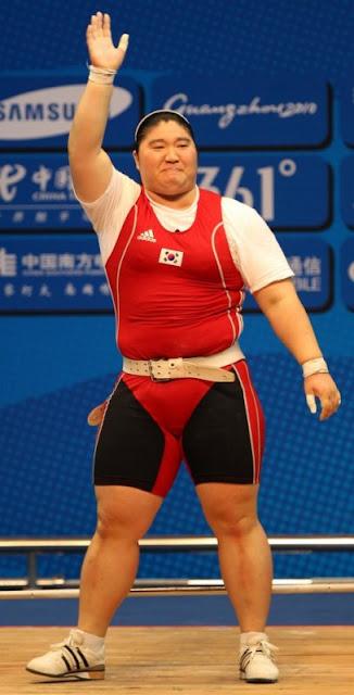 La halterófila surcoreana Jang Mi-ran