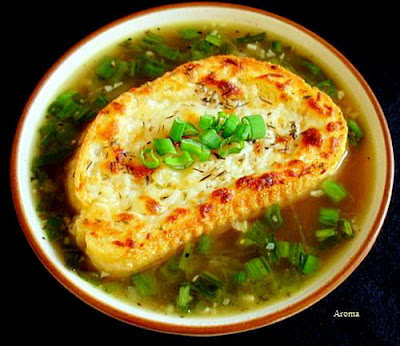 French Onion Soup with Scallions
