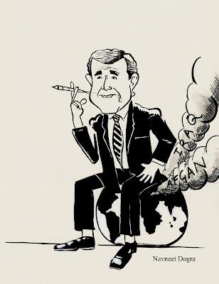 A happy George Bush