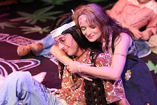 Robin as Jeanie, with Todd Schaefer, in New Line's HAIR, 2008