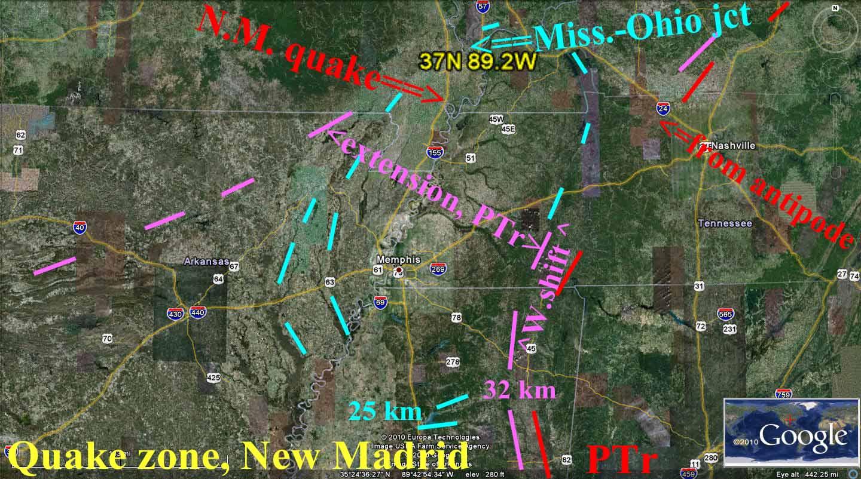 Poroglespot New Madrid Earthquake Dynamics Andysis