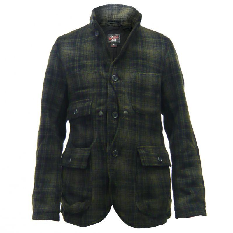 NWOT Bear Ridge Black Gray Bears Fleece Jacket Faux Suede Collar Tie Closure