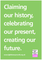 front of the new LGBT History Month flyer