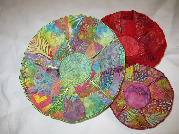Fabric Art Bowls Connie Ctaxiera Collage