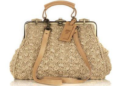 Anna Sui Raffia Frame Bag