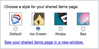 Shared items styles