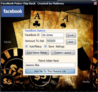 how to hack texas holdem poker chips in facebook