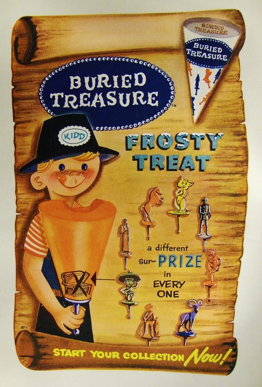 buried treasure ice cream sticks btics