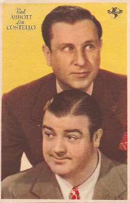 Retrato antiguo de Bud Abbott y Lou Costello