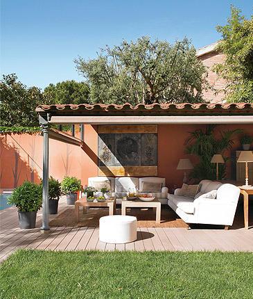 Puesta a punto de porches y terrazas decoraci n retro for Suelos para porches y terrazas