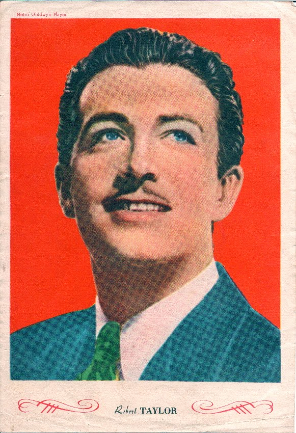 Retrato antiguo de Robert Taylor