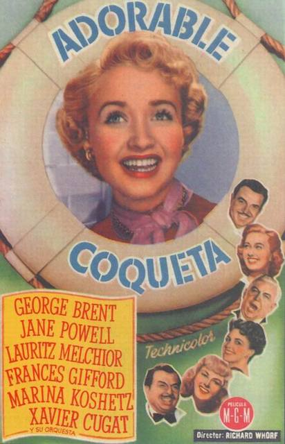 Programa de Cine - Adorable Coqueta - George Brent - Jane Powell