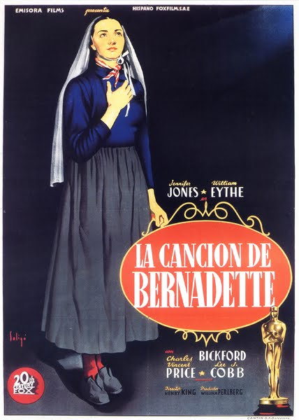 Programa de Cine - La Canción de Bernadette - Jennifer Jones - William Eythe