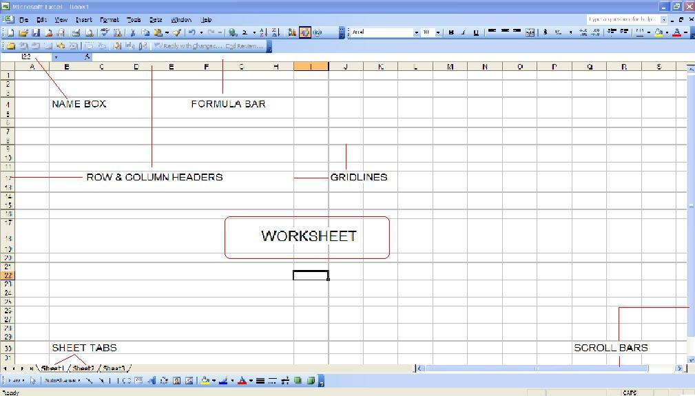 Learning Excel Formulas Components of a Spreadsheet MS Excel 2003 – Components Of A Spreadsheet