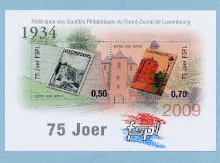 75th anniversary of the Luxembourg Federation of Philatelic Societies