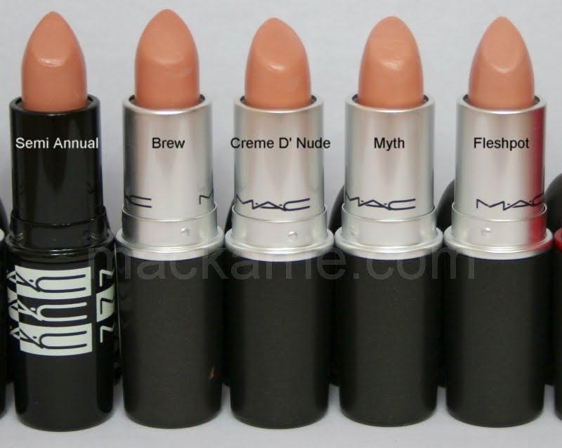 mackarrie beauty style blog mac lipsticks nude t ne vergleich. Black Bedroom Furniture Sets. Home Design Ideas