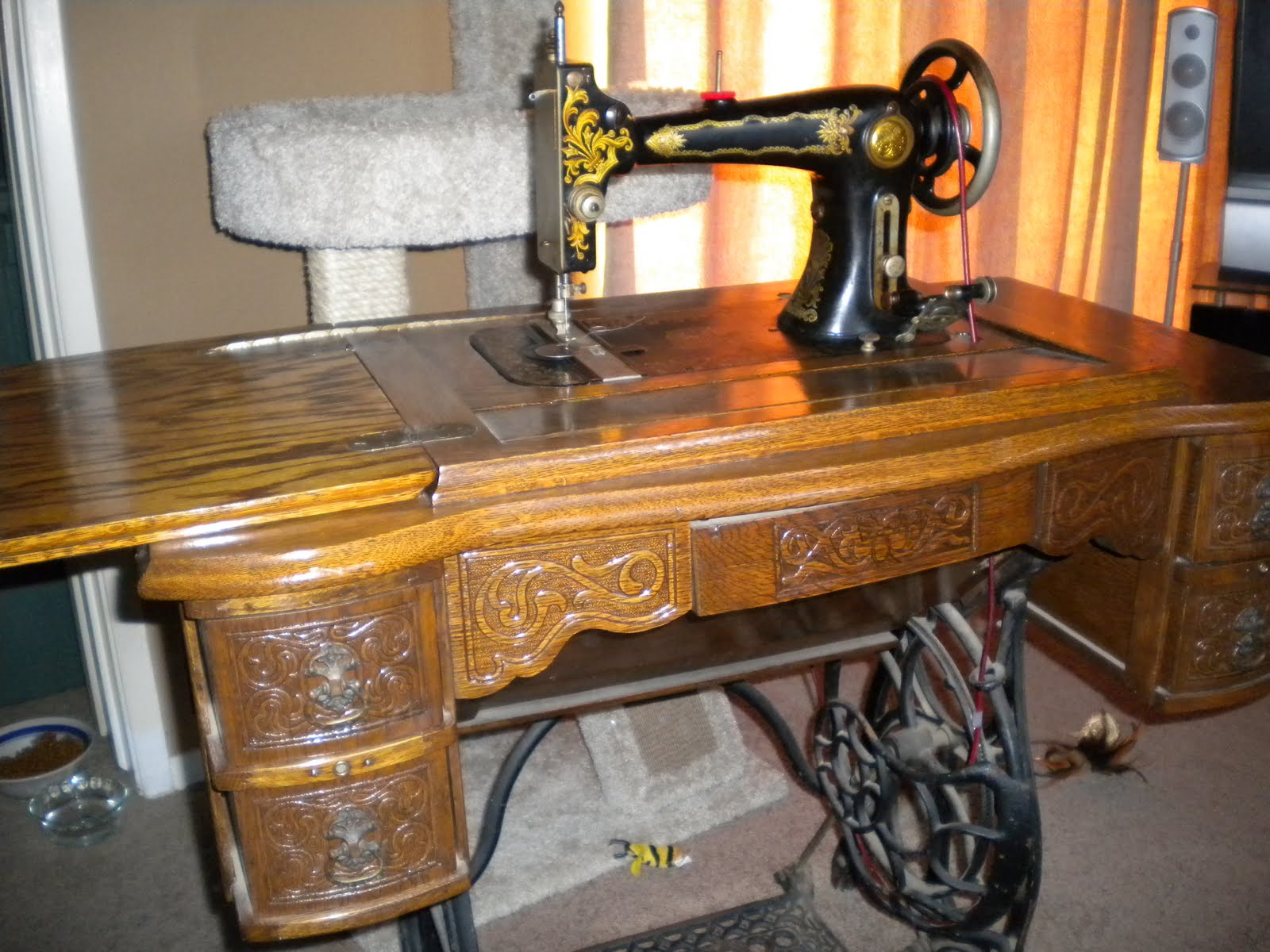 "Sweet Leaf Notebook ""New"" Old White Treadle Sewing Machine I"