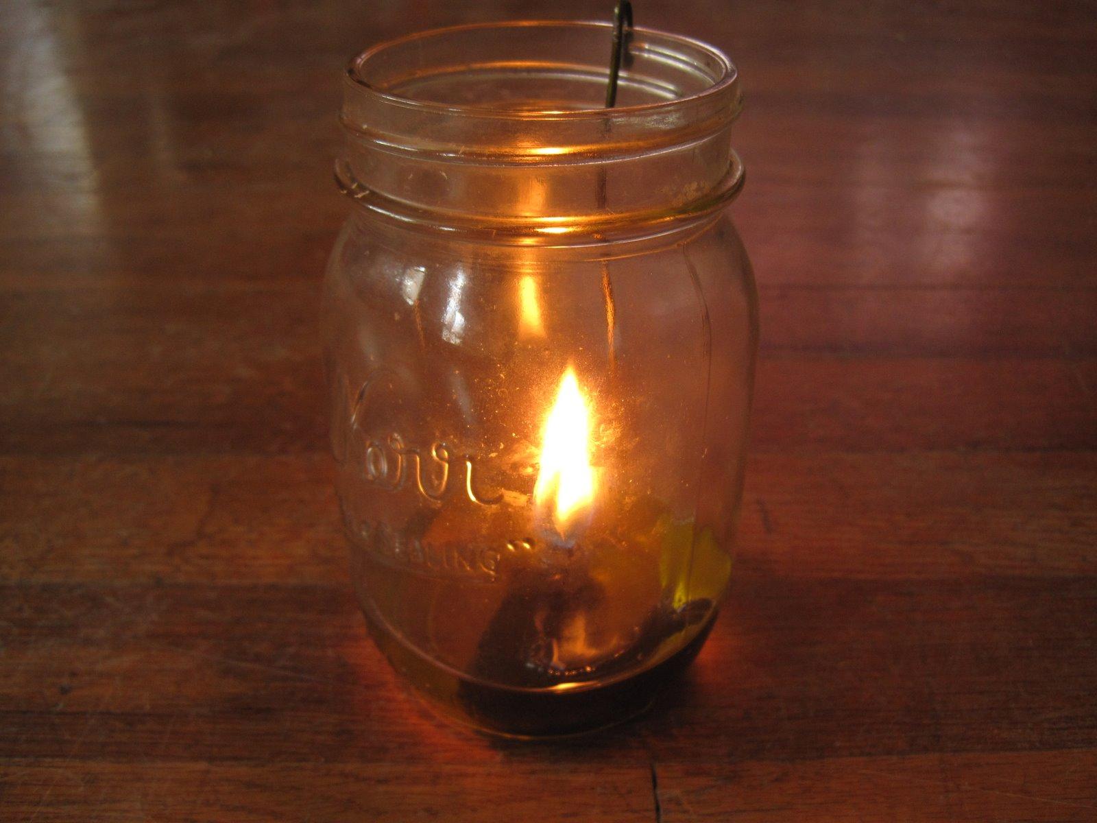 Whittled Down Life Olive Oil Lamp