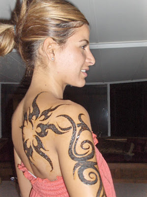 Girl With Tribal Tatto