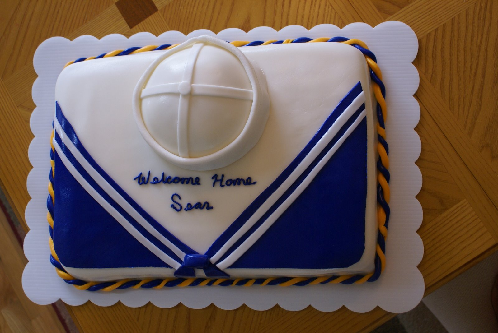 Welcome Home From The Navy Cake Addicted To Cakes