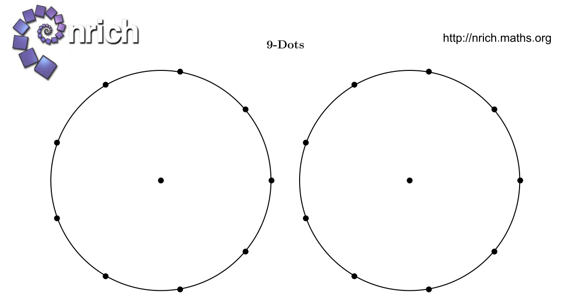 MEDIAN + ICT choices: nrich printable circles