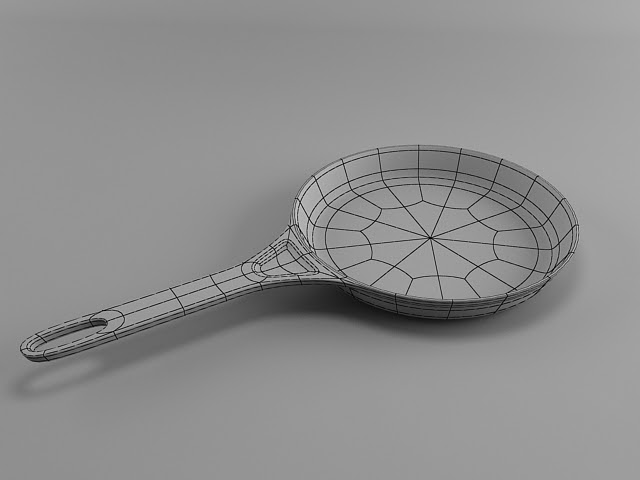 Tutorials For 3ds Max: Frying Pan - 3ds Max Modeling Tutorial
