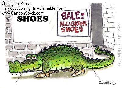 Joke Blonde New Gator Shoes