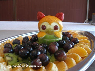 fruit carving and garnishes for children