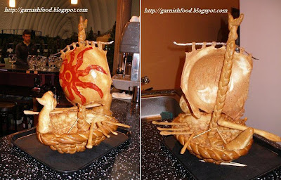 ship made of dough