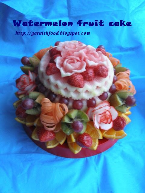 Fruit Carving Watermelon Cake