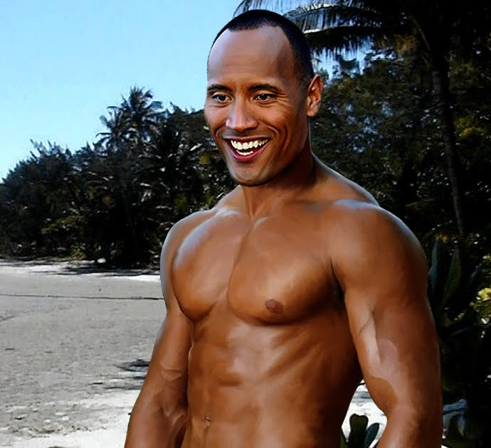 Remarkable, very The rock johnson nude photo