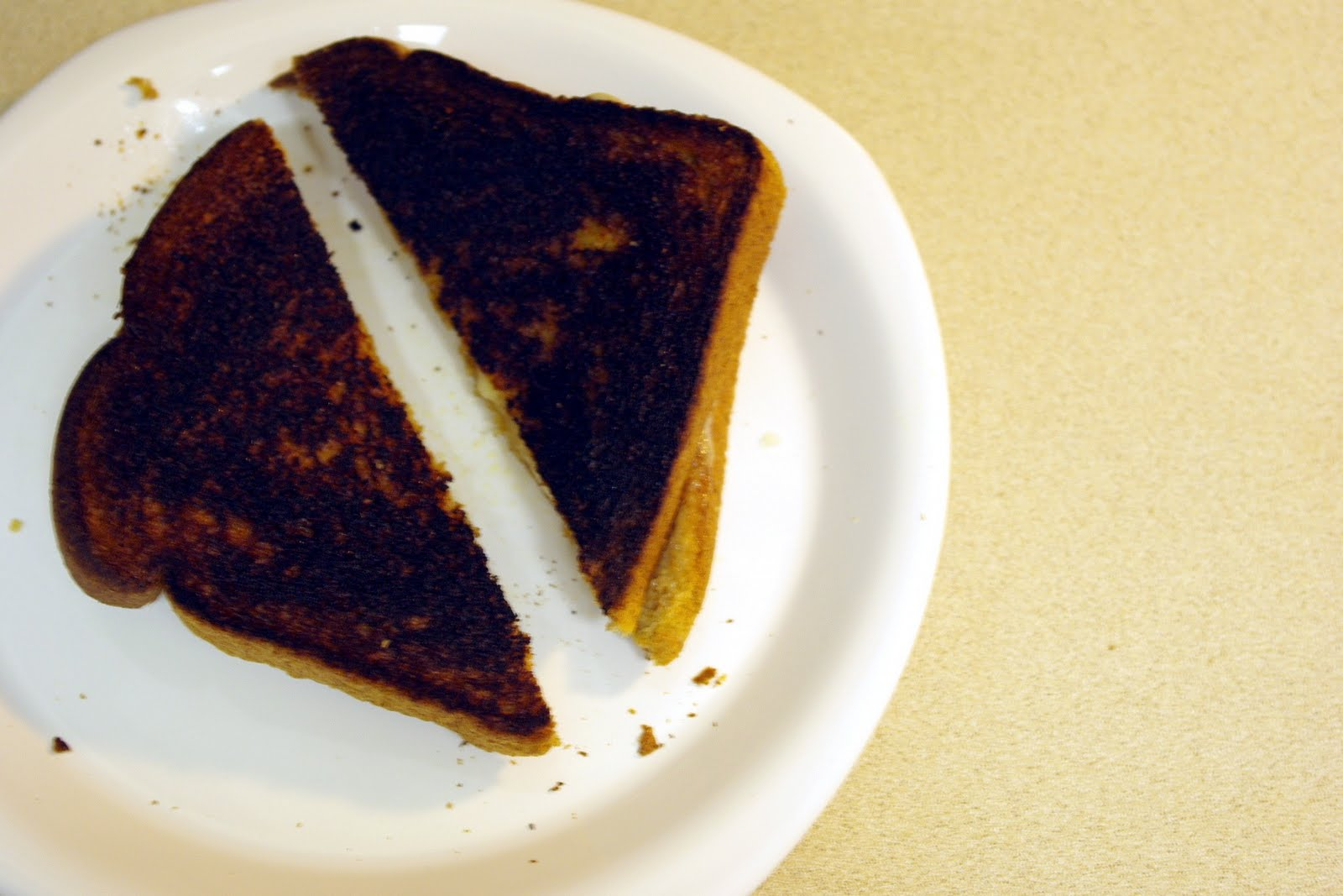Image result for burnt grilled cheese