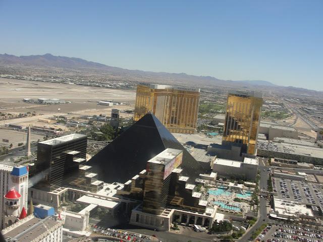Vista da Strip do helicóptero, Las Vegas.