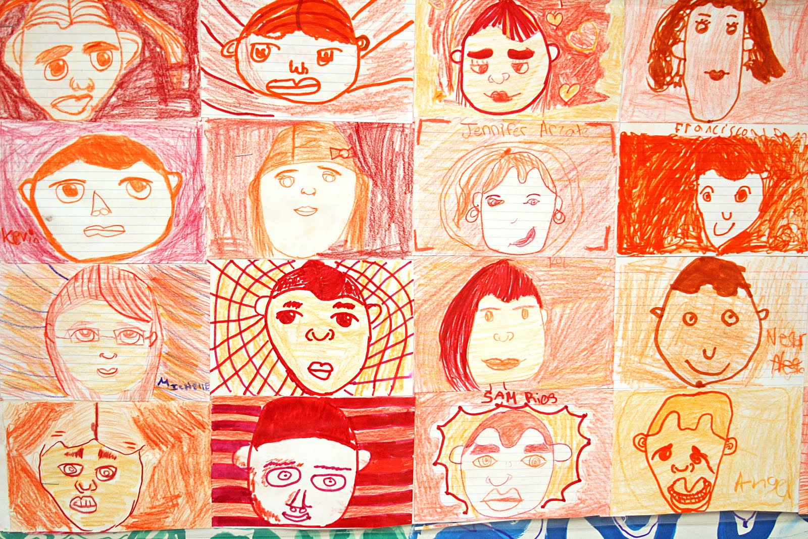 Smart Class Color Wheel Self Portrait Mural