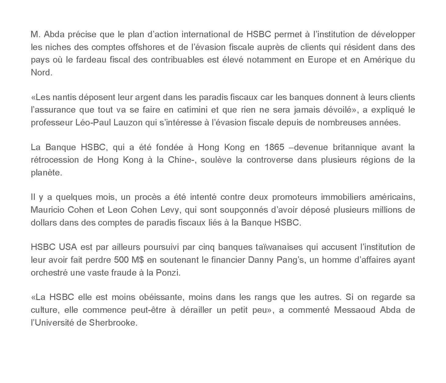 faire opposition carte bleue hsbc