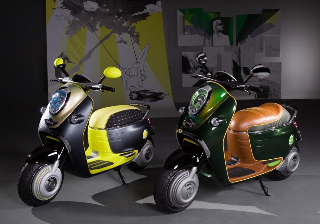 the glamour skull mini scooter e concept. Black Bedroom Furniture Sets. Home Design Ideas