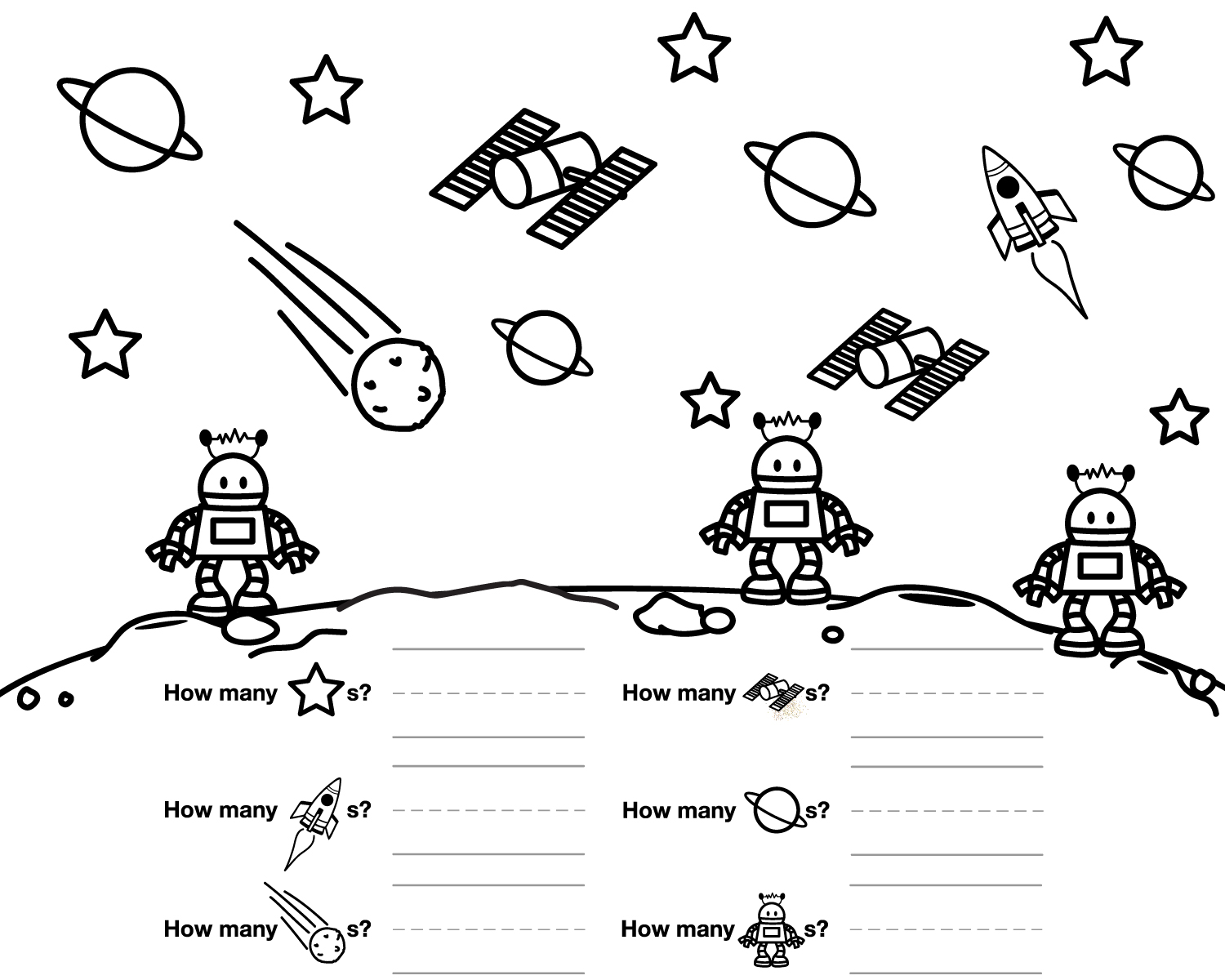 Other Graphical Works: For Kids To Color And Count