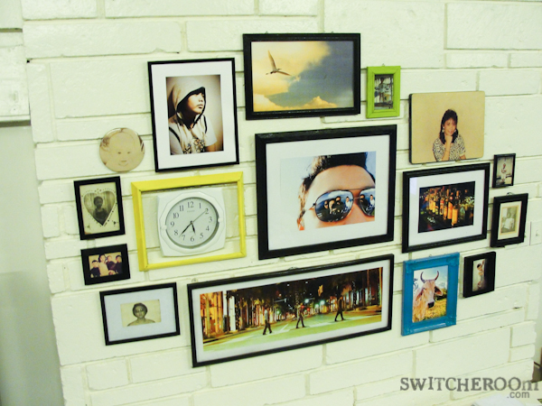 frame gallery, colorful frames, wall frames display