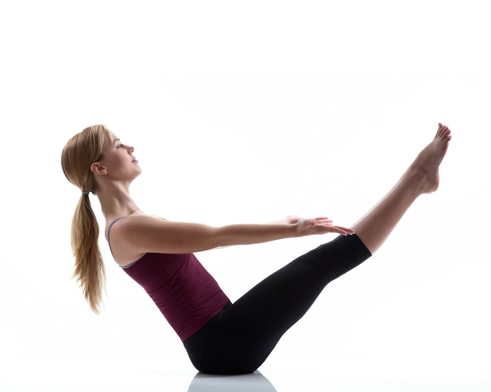 yoga stretches the boat pose