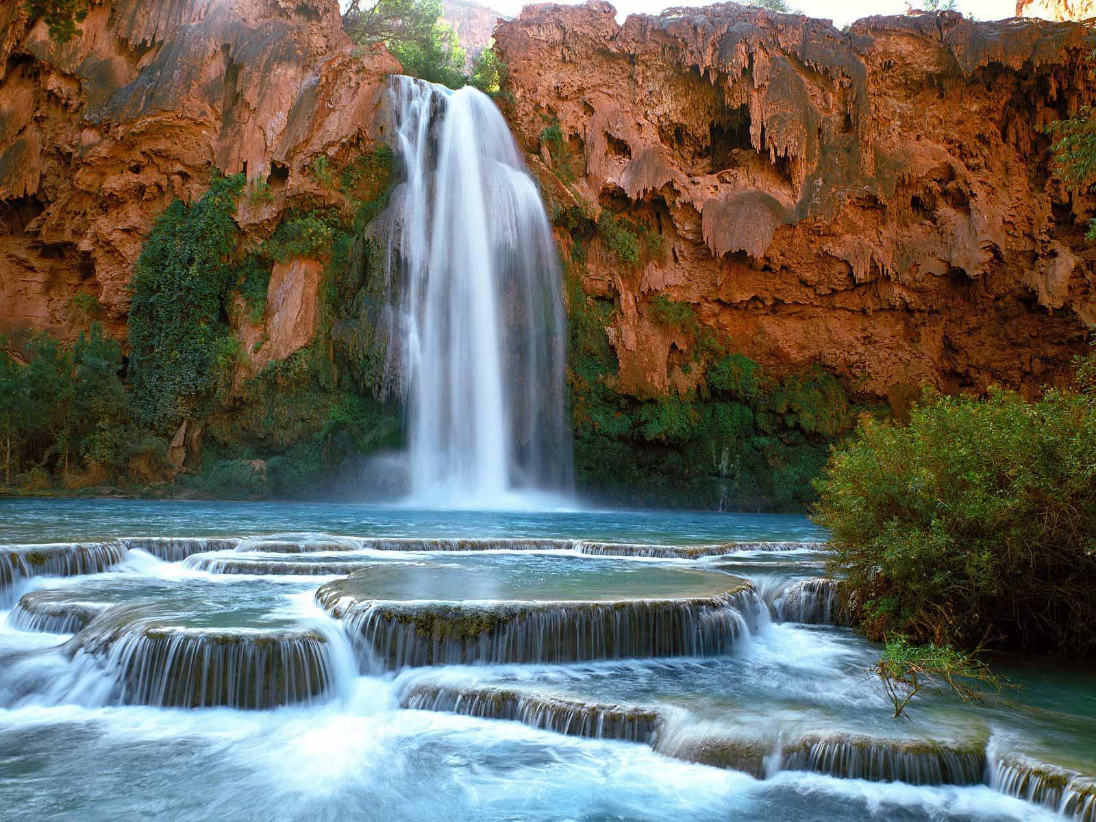 Netherlands Fall Wallpaper Nature S Beauty Havasu Waterfall Of Arizona