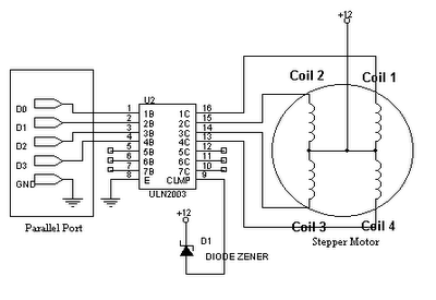 Driving Stepper Motor Using Uln2003 on seven pin wiring diagram